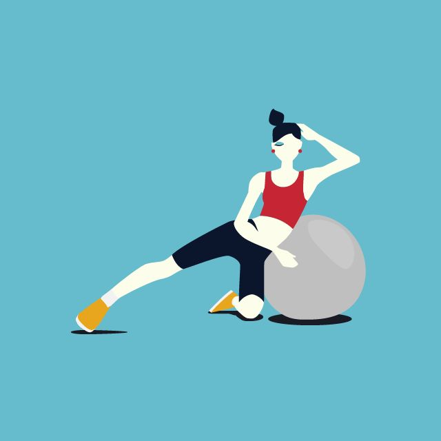 Fitness Ball Exercise Postures - image 3 - student project