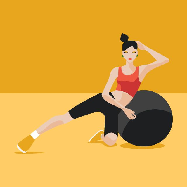 Fitness Ball Exercise Postures - image 6 - student project