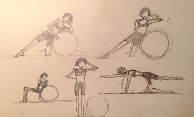Fitness Ball Exercise Postures - image 14 - student project