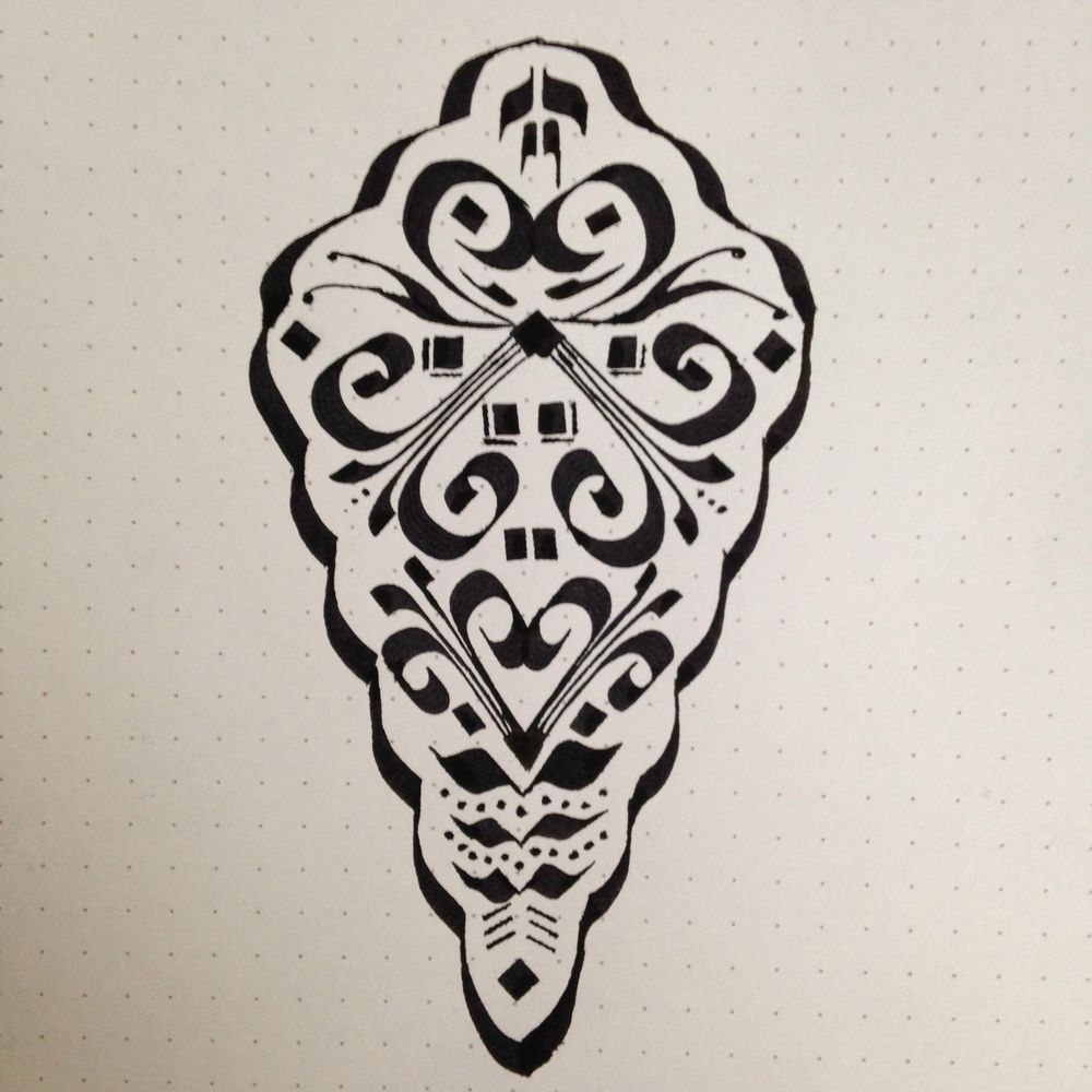 Calligraphic Motif for Pattern - image 2 - student project