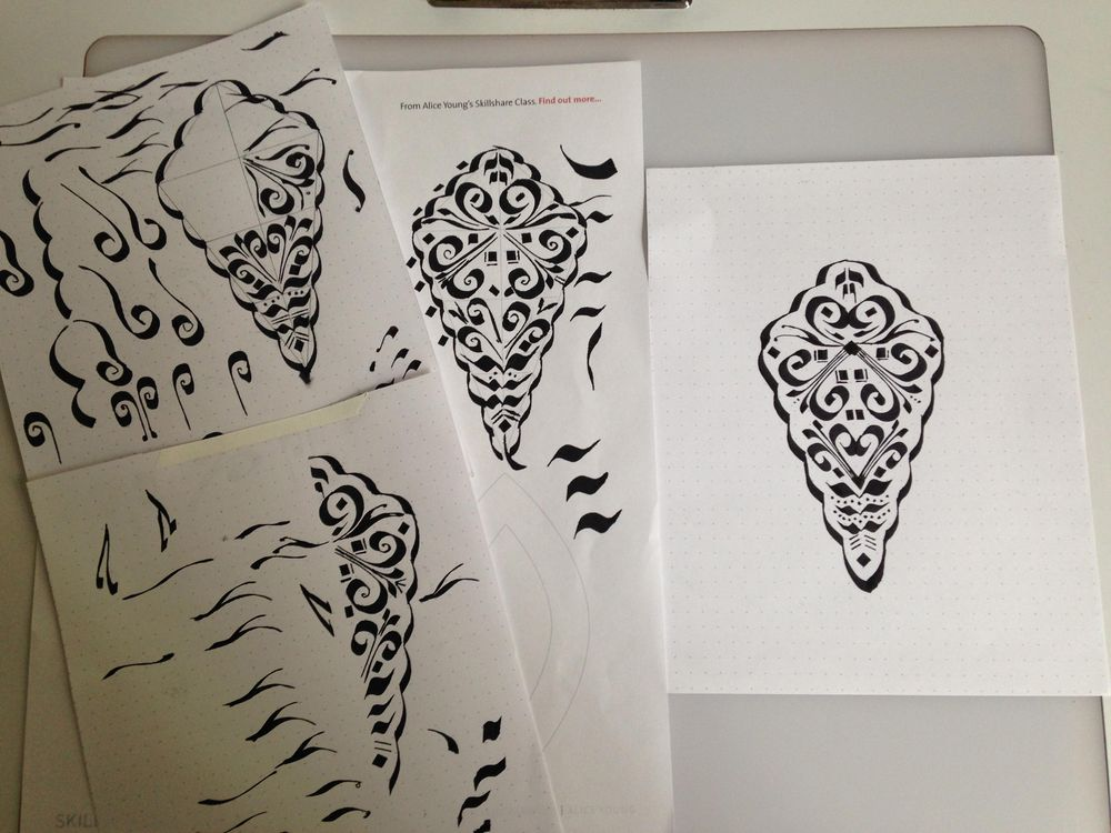 Calligraphic Motif for Pattern - image 1 - student project