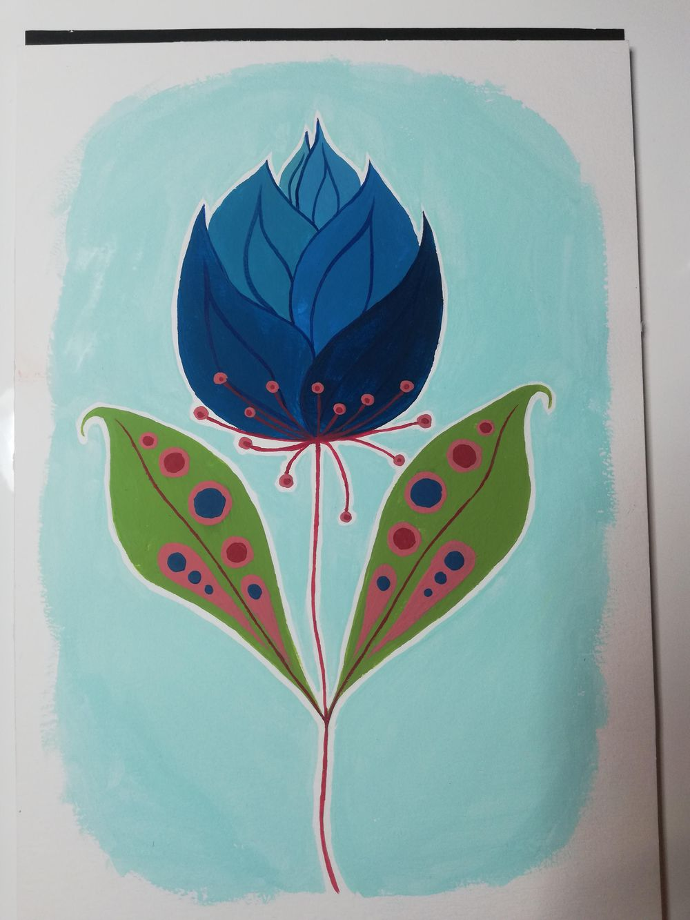 Blue Flower - image 1 - student project