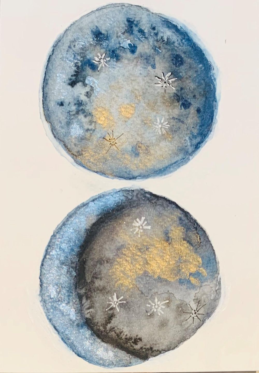 Watercolour Moons - image 1 - student project