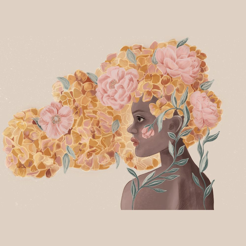 Floral hair - image 1 - student project