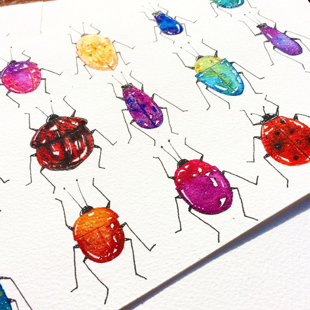 Watercolour and pen - image 1 - student project
