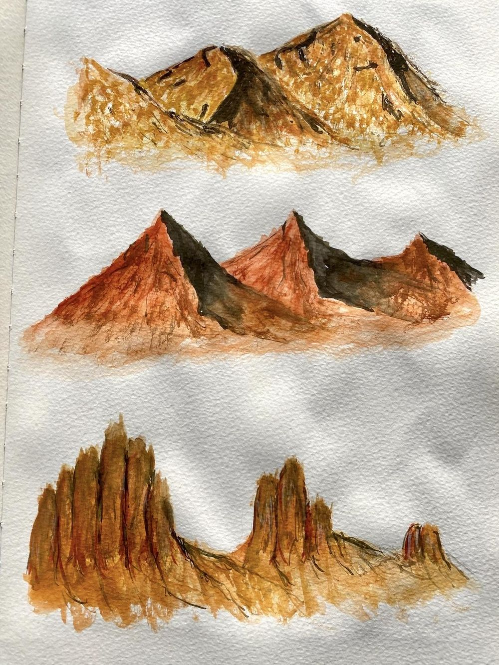 Watercolor landscapes - Z. Nabeel - image 4 - student project