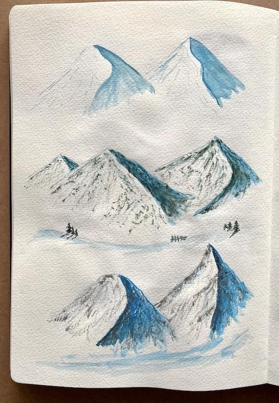 Watercolor landscapes - Z. Nabeel - image 2 - student project