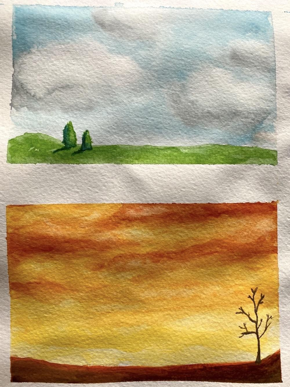 Watercolor landscapes - Z. Nabeel - image 5 - student project