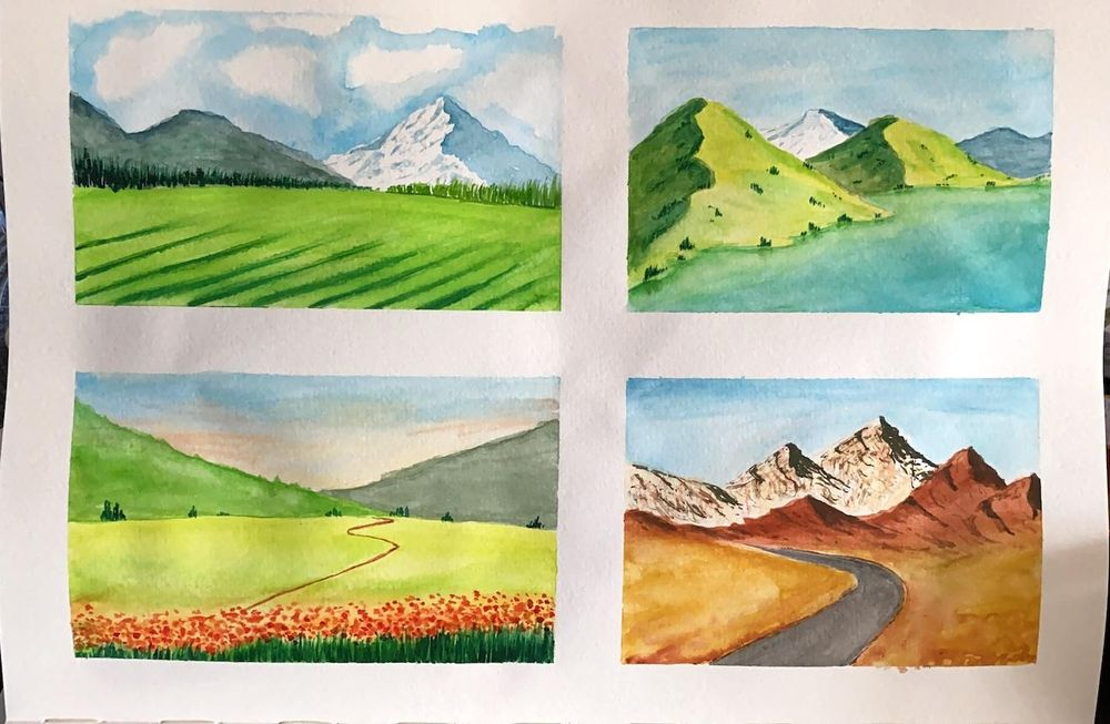 Watercolor landscapes - Z. Nabeel - image 6 - student project