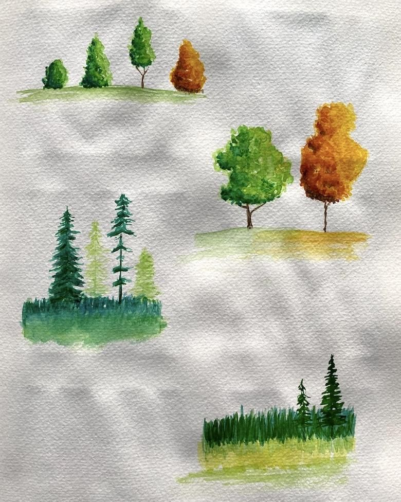Watercolor landscapes - Z. Nabeel - image 1 - student project