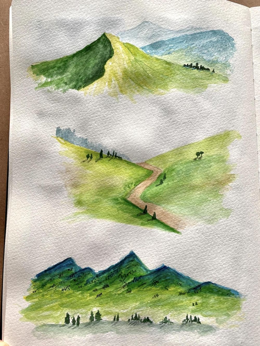 Watercolor landscapes - Z. Nabeel - image 3 - student project