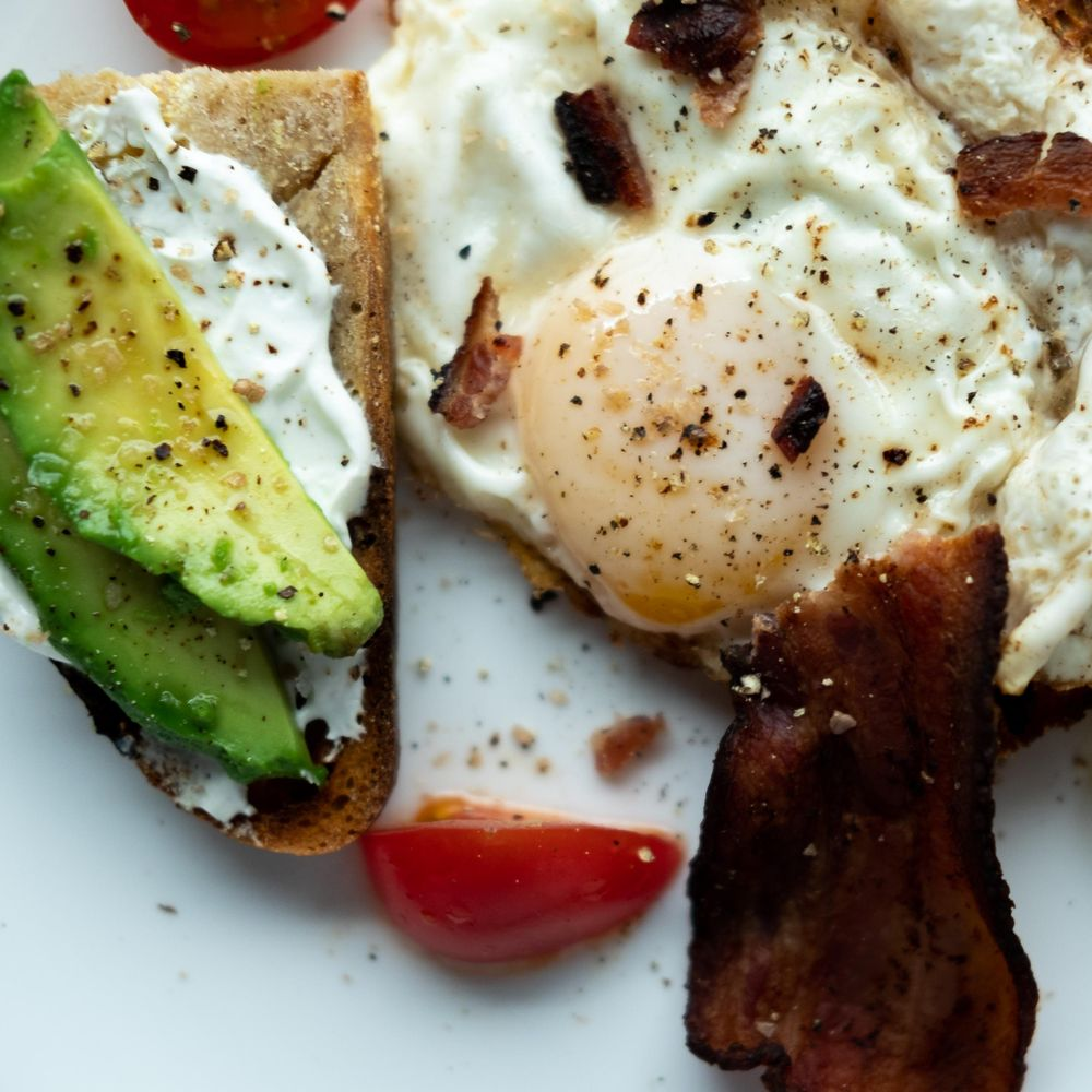 avocado & egg/bacon toasts - image 2 - student project