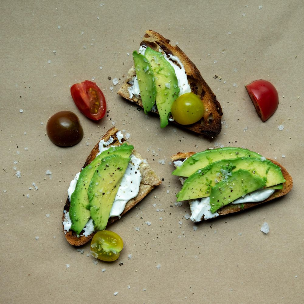 avocado & egg/bacon toasts - image 1 - student project