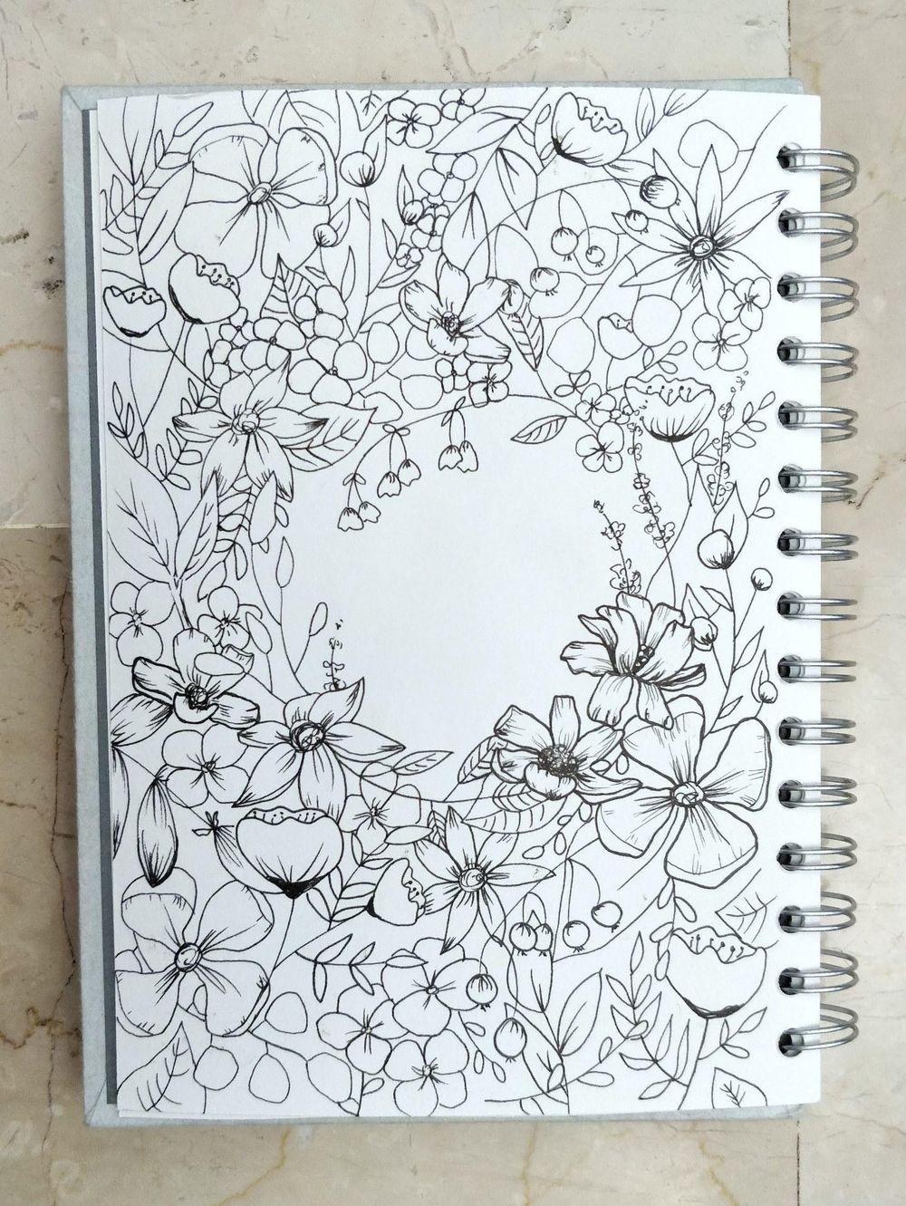 Floral Illustration: Composition Meets Negative Space - image 3 - student project
