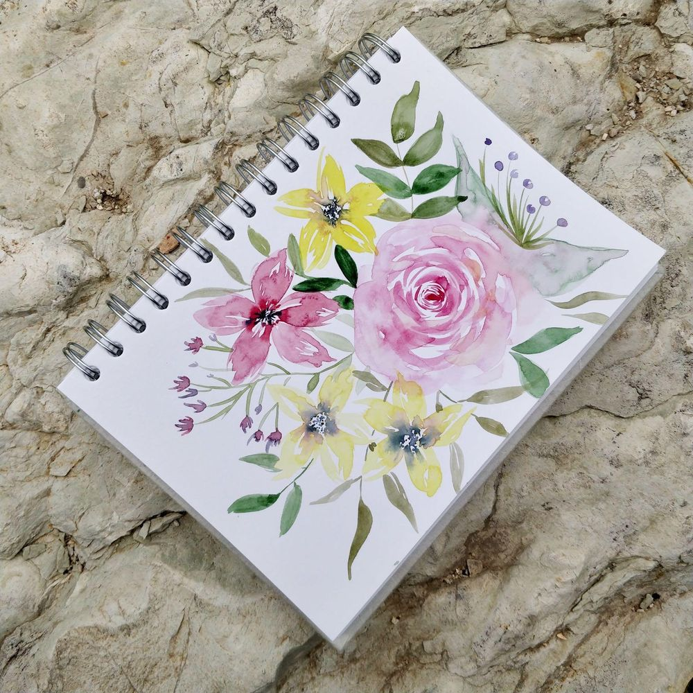 From Blobs to Blooms: Easy Watercolor Florals for Beginners - image 2 - student project