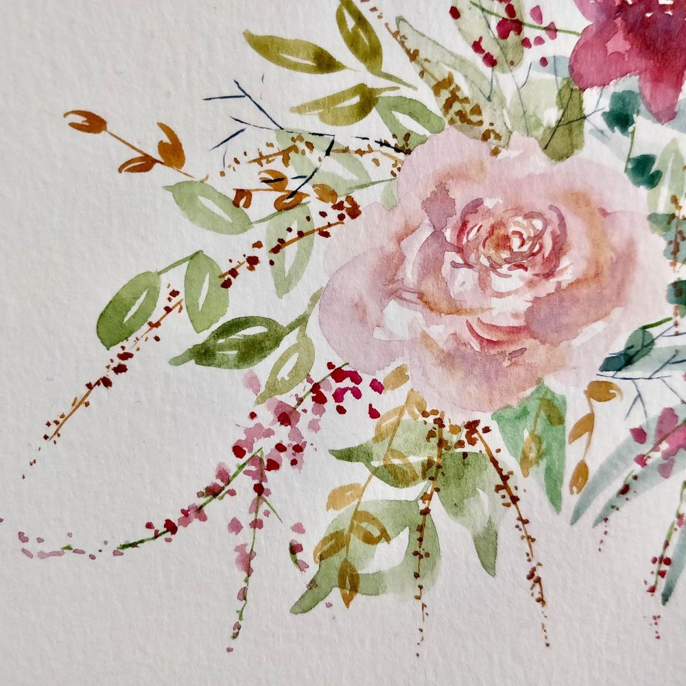 Watercolor Loose Florals: Paint and Explore - image 3 - student project