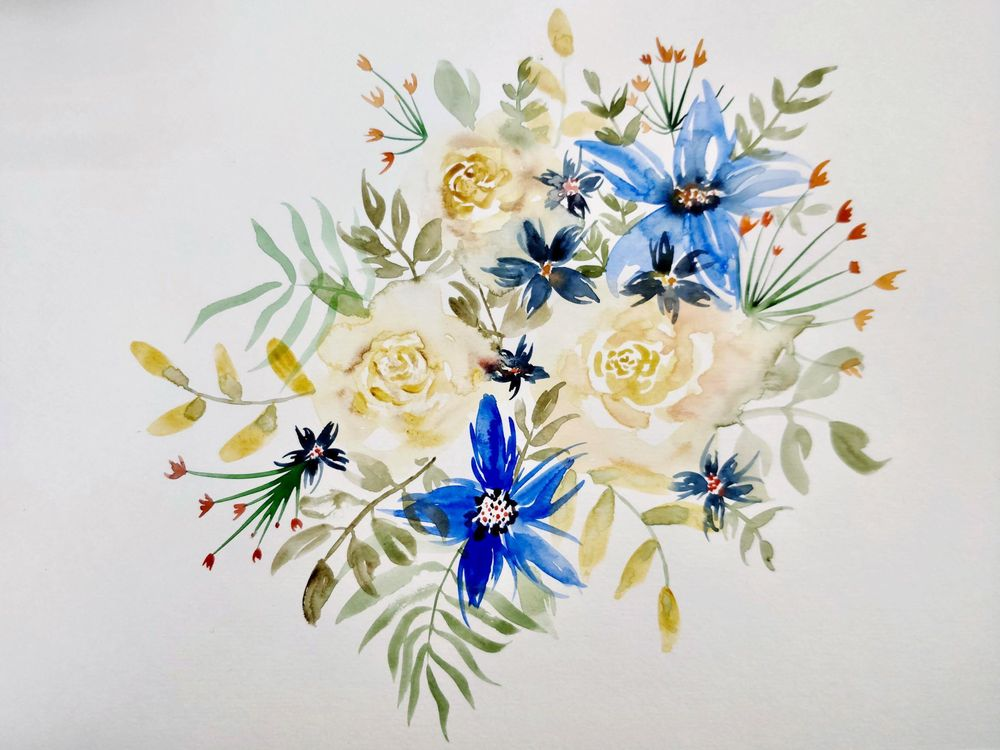 From Blobs to Blooms: Easy Watercolor Florals for Beginners - image 1 - student project