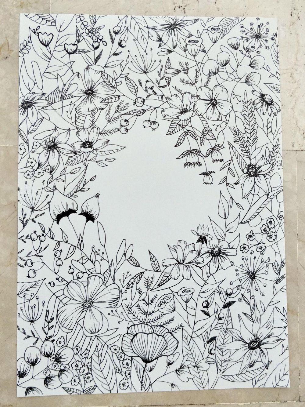 Floral Illustration: Composition Meets Negative Space - image 1 - student project
