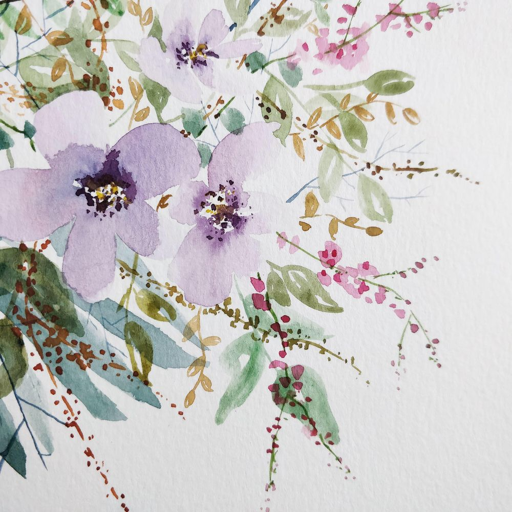 Watercolor Loose Florals: Paint and Explore - image 1 - student project
