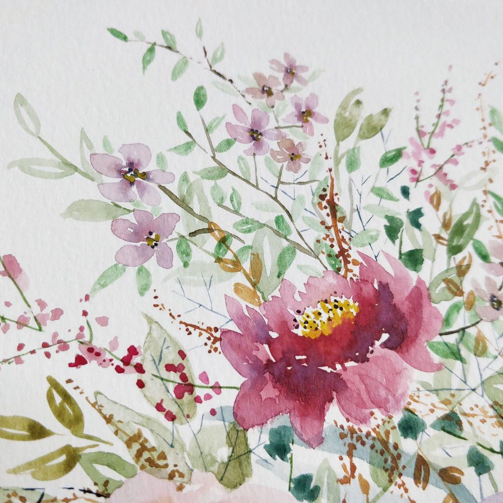 Watercolor Loose Florals: Paint and Explore - image 2 - student project