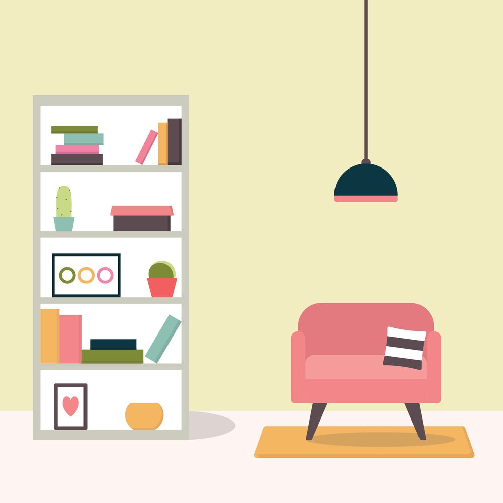 Flat Style Living Room - image 1 - student project