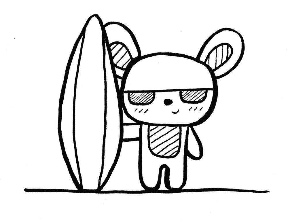 Surfing Bunny - image 1 - student project
