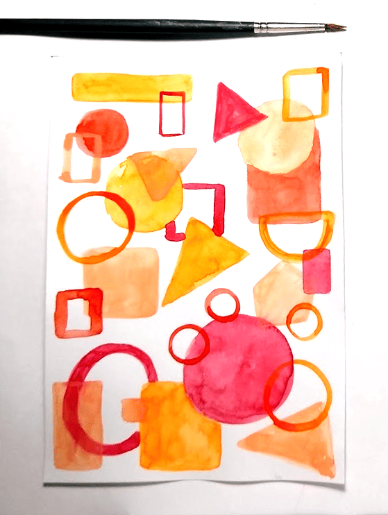 Abstract watercolor - image 1 - student project