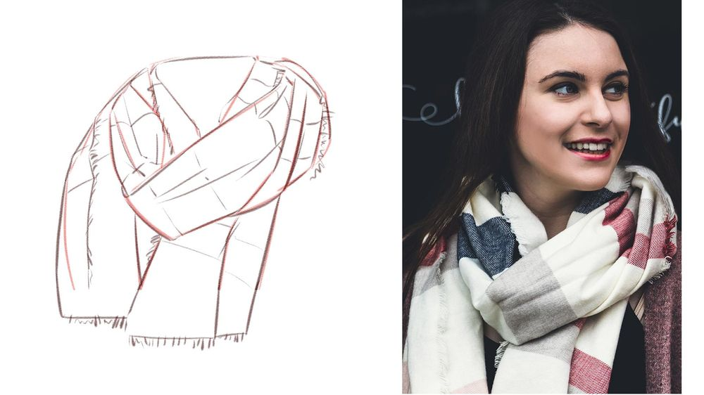 Winter Scarf Drawing - image 2 - student project