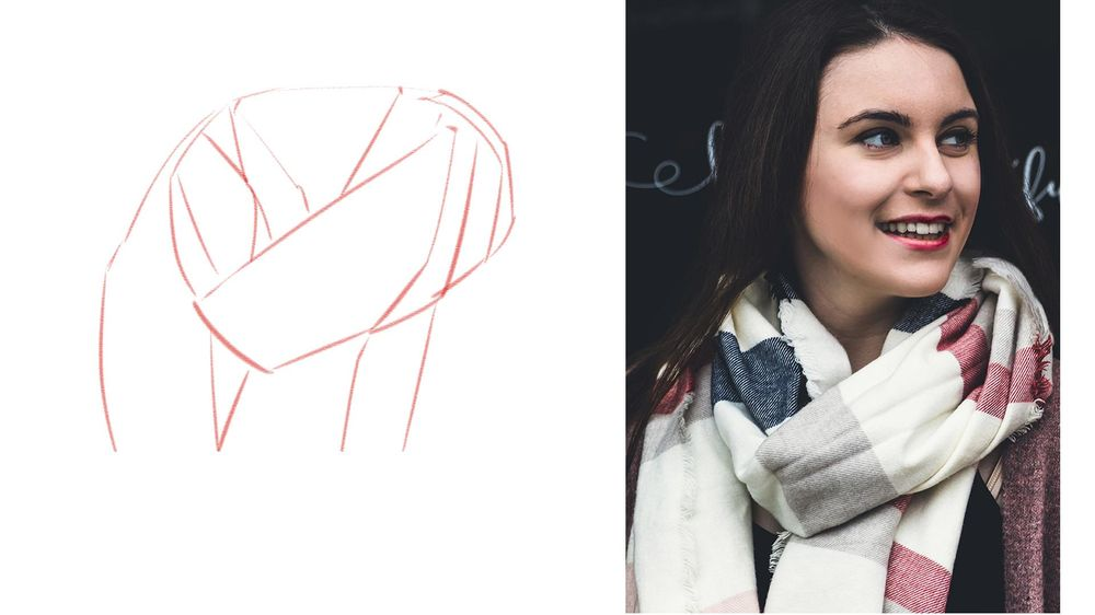 Winter Scarf Drawing - image 1 - student project