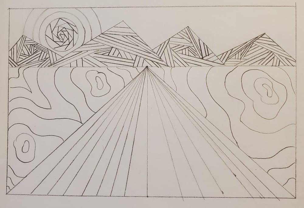 Intricate line landscape - image 1 - student project