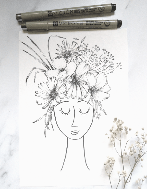 Girl with flowers - image 1 - student project