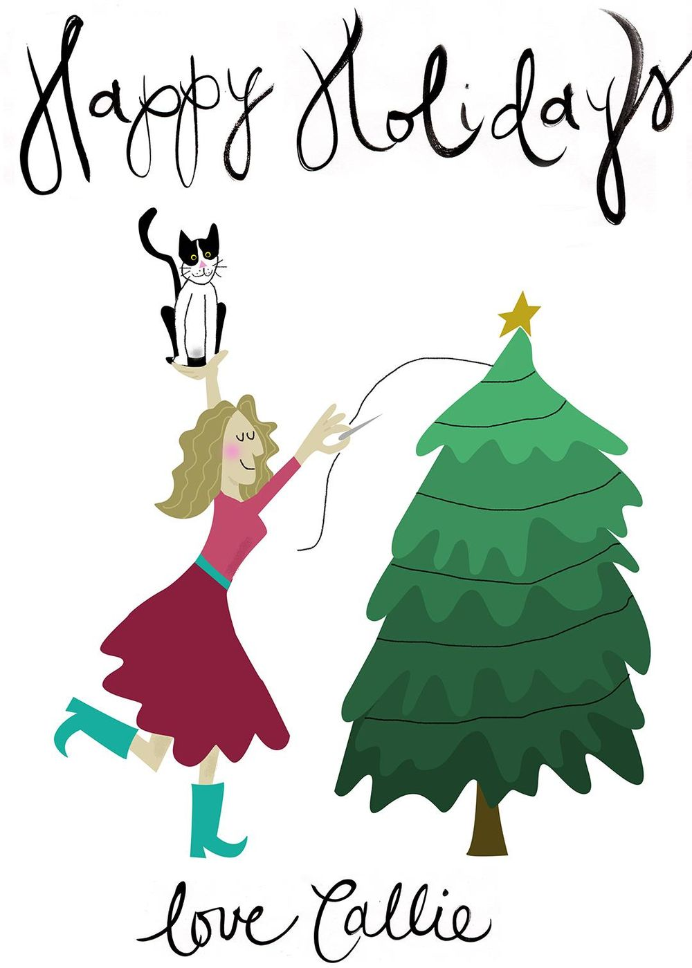 Holiday Card Inspired by Odd Bodies Class - image 1 - student project
