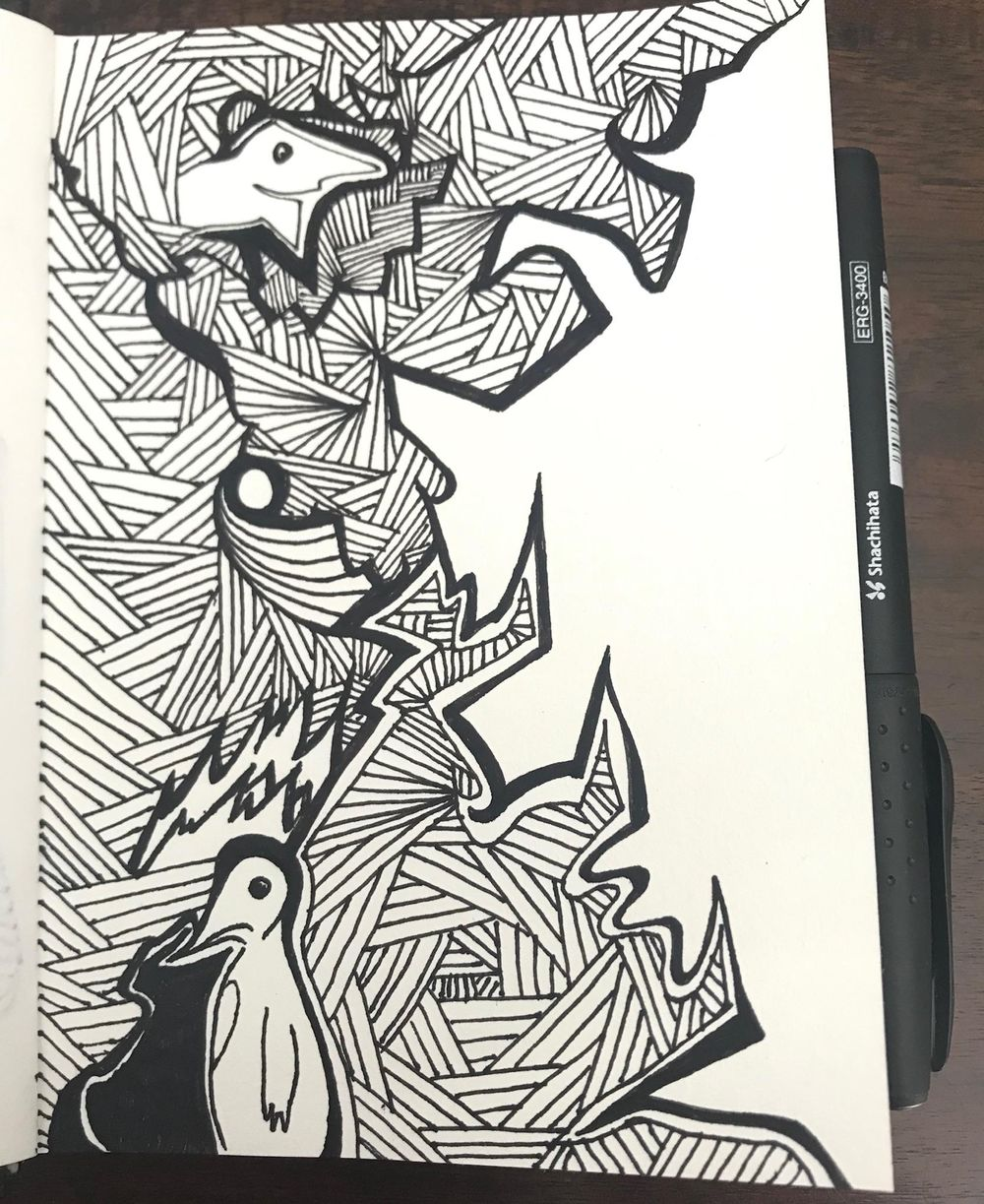 Intricate Drawing in my A6 Visual Diary - image 1 - student project