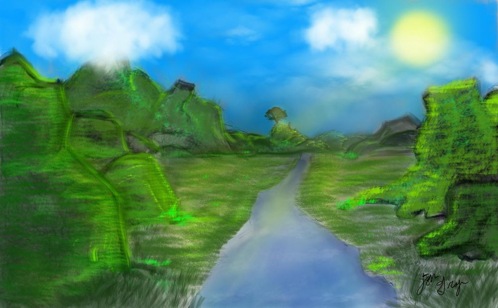 grassy hills - image 1 - student project