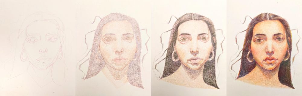 Vivid portrait in watercolor - image 1 - student project