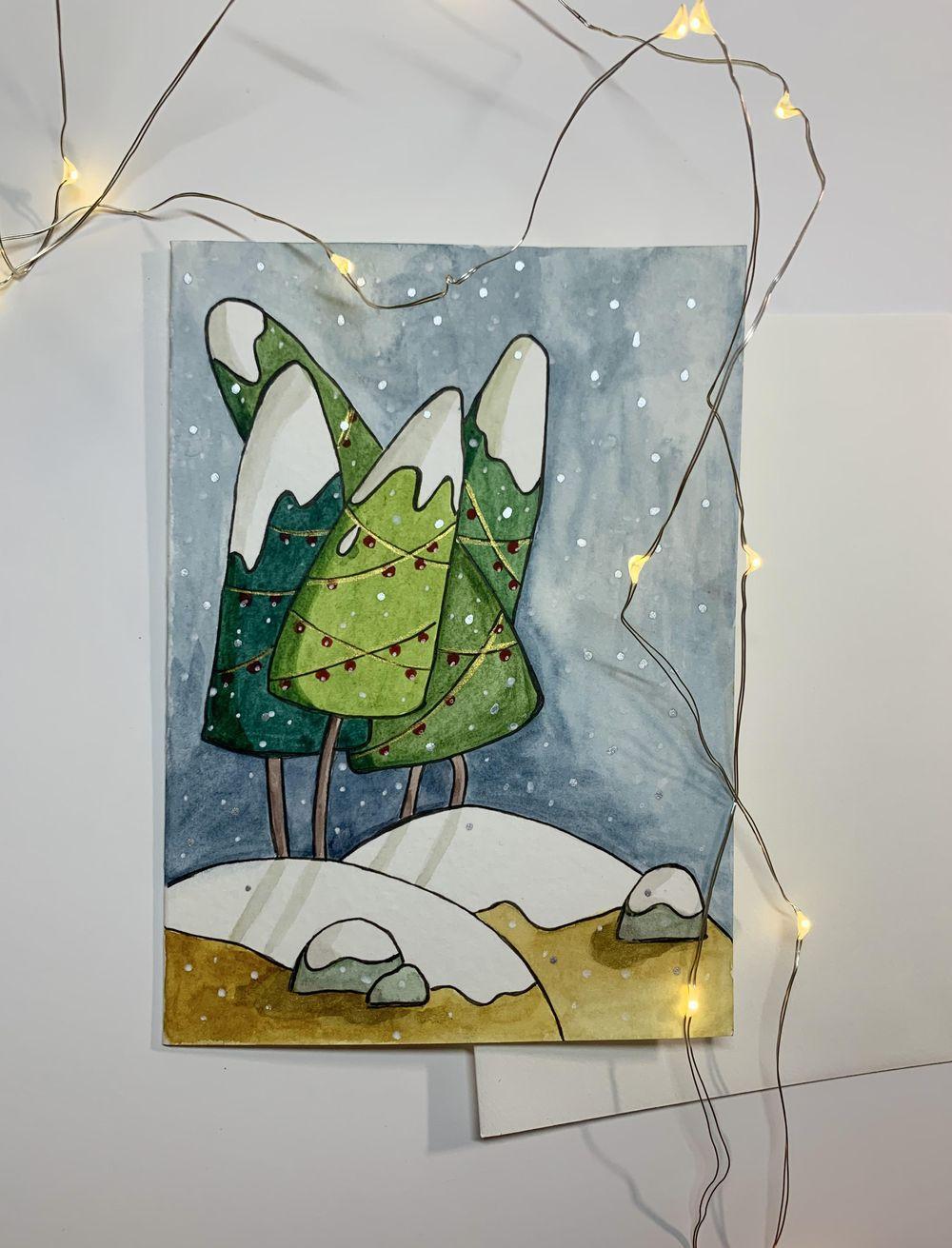 Christmas Holiday Postcard - image 1 - student project