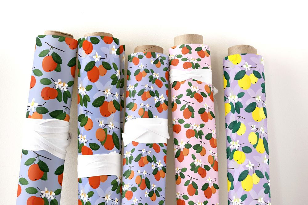 seamless patterns with mandarins - image 1 - student project
