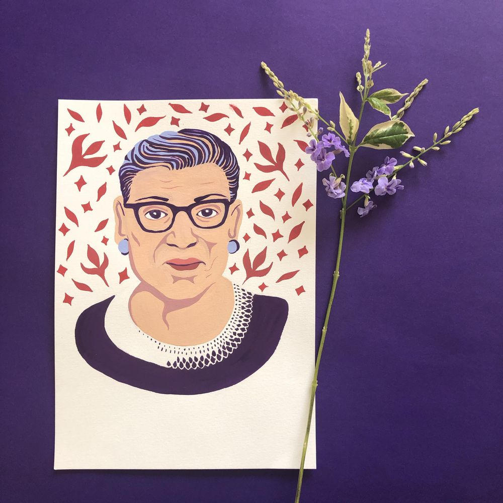 Portrait of Ruth Bader Ginsburg - image 2 - student project