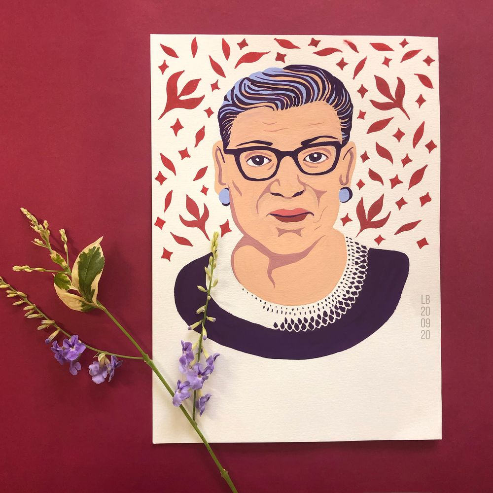 Portrait of Ruth Bader Ginsburg - image 1 - student project