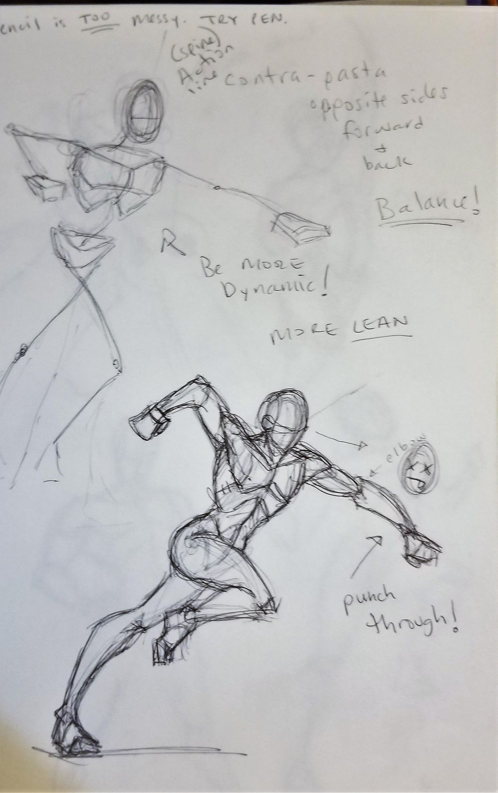 Dynamic Pose practice - image 6 - student project