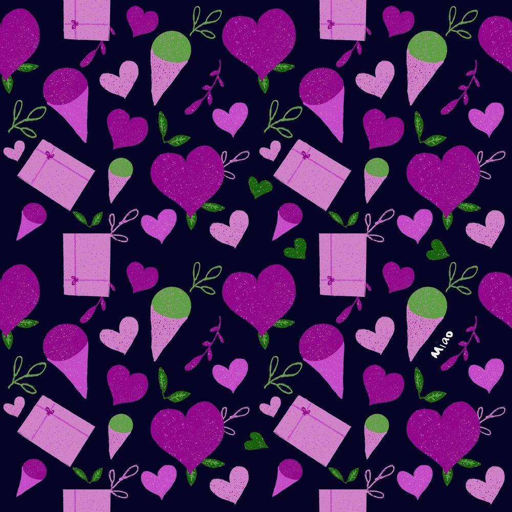 Simple V Day pattern - image 3 - student project