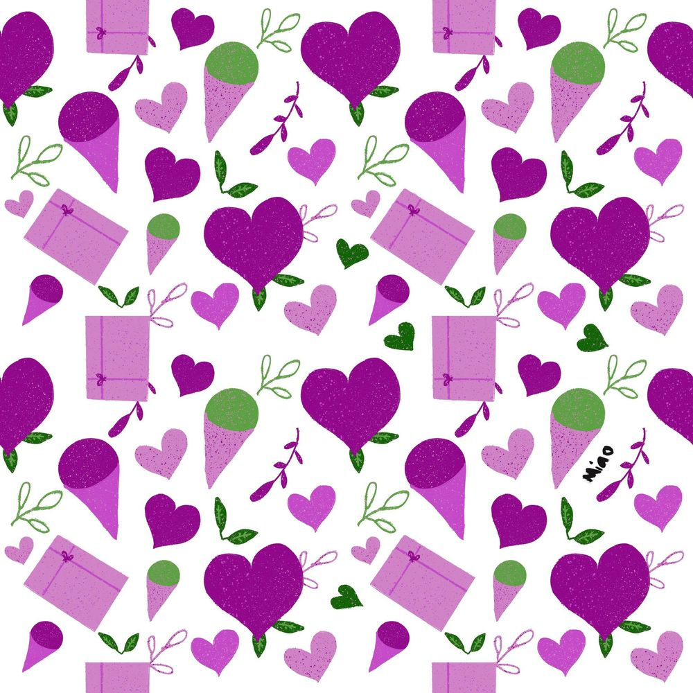 Simple V Day pattern - image 2 - student project