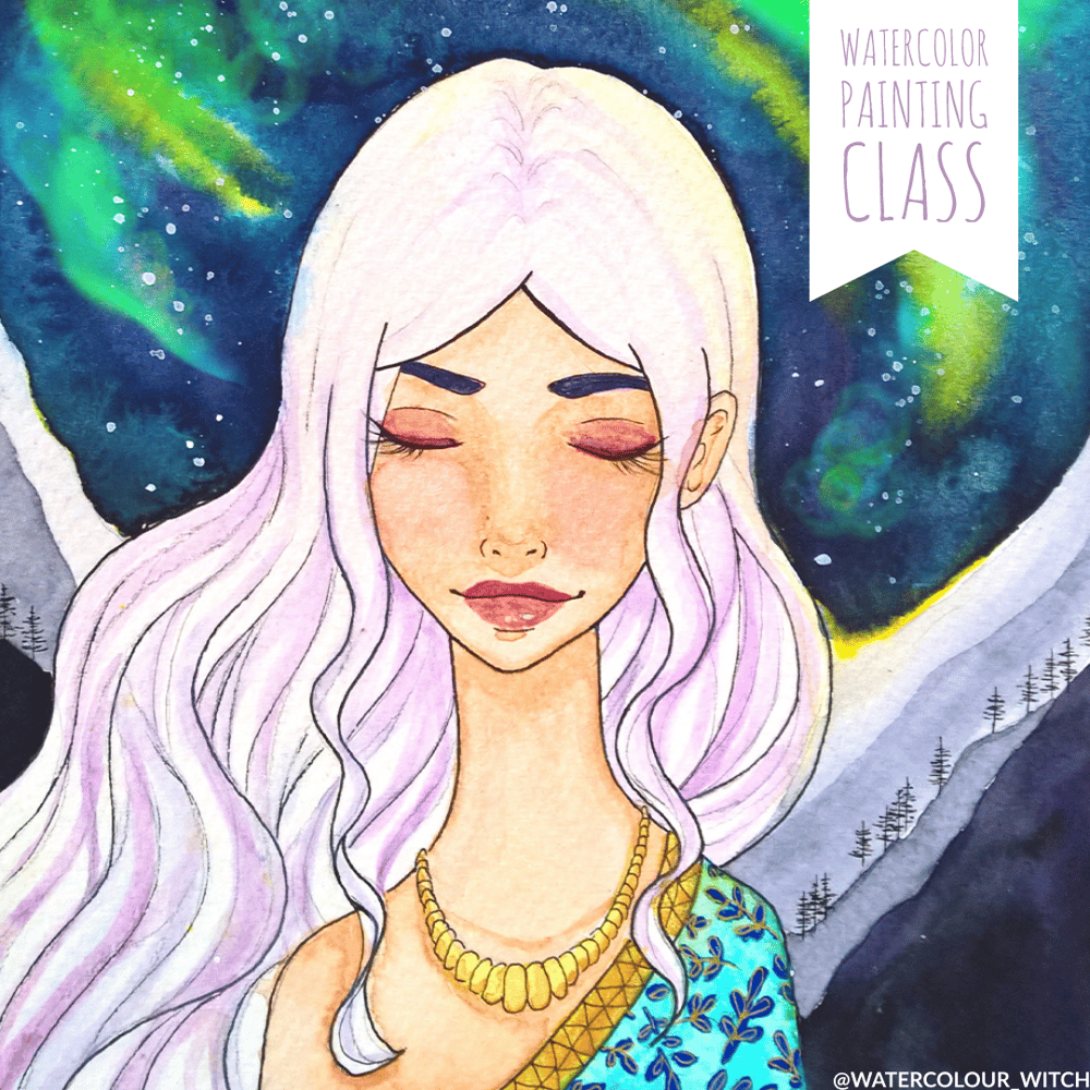 Watercolor Galaxy - Aurora, the Goddess of Dawn - image 4 - student project