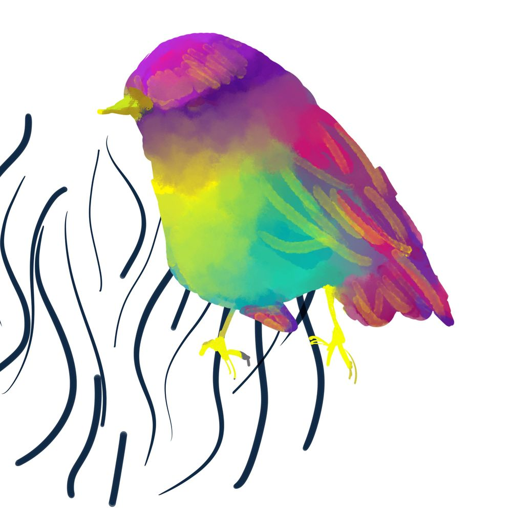 Bird lineart - image 1 - student project