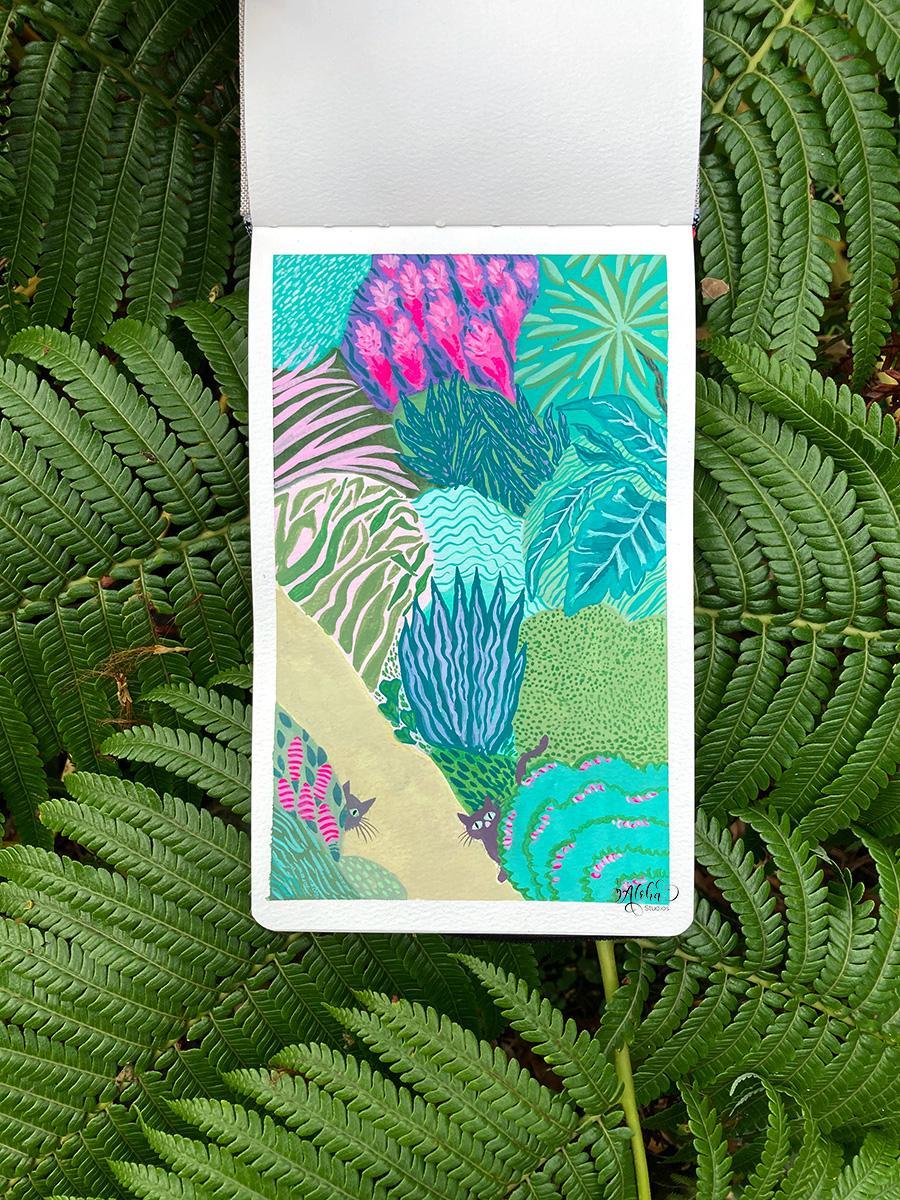 Hawaiian jungle kitty - image 3 - student project