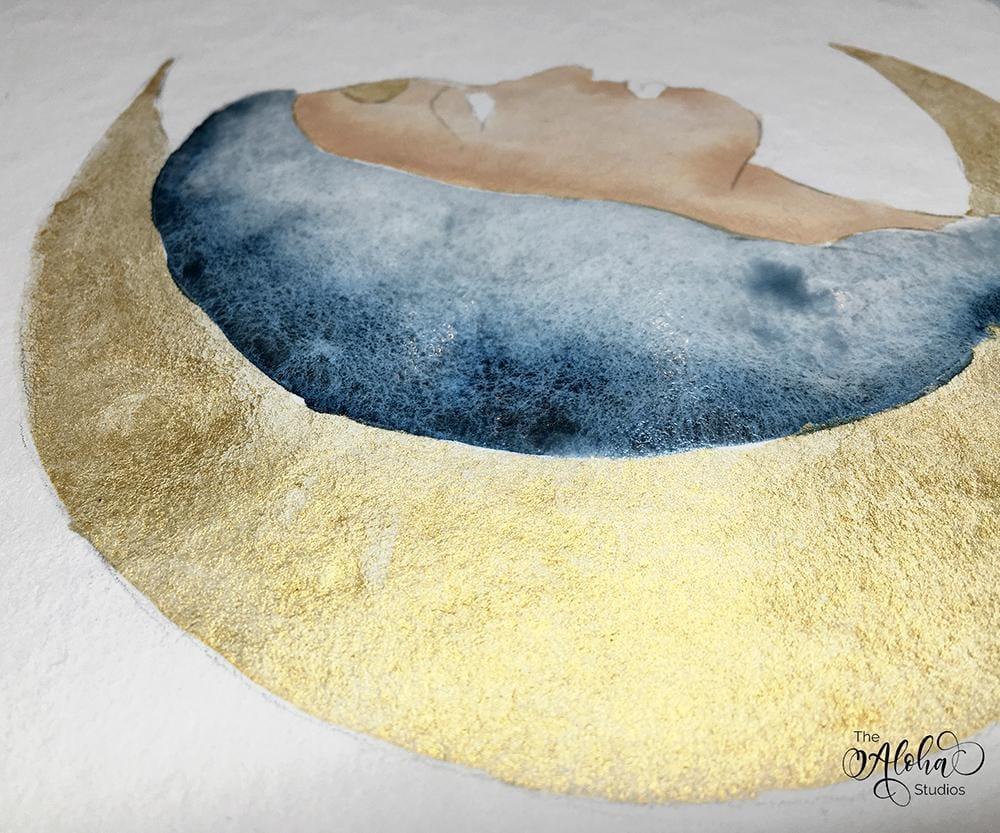Hawaiian watercolor goddesses, work process - image 10 - student project