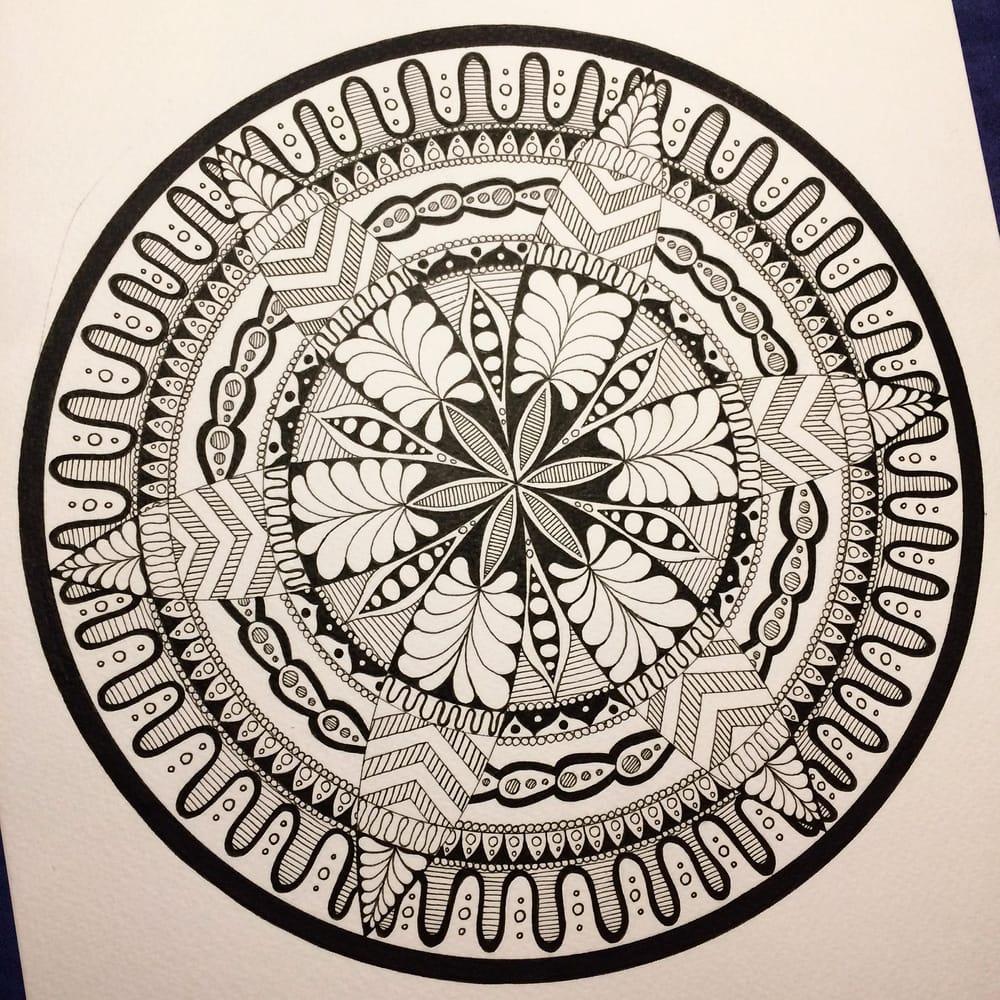 Dotty Watercolour Mandala :) - image 2 - student project