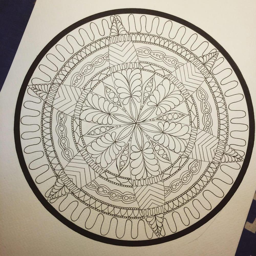 Dotty Watercolour Mandala :) - image 1 - student project