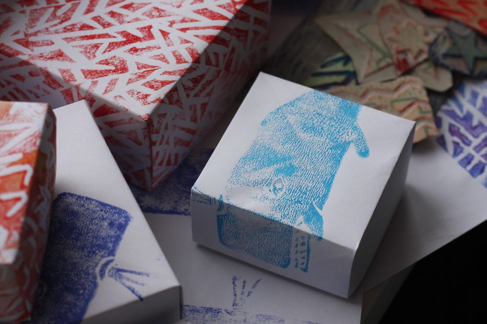 hand-made patterns and origami boxes - image 5 - student project