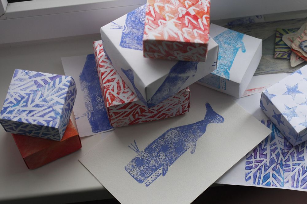 hand-made patterns and origami boxes - image 1 - student project